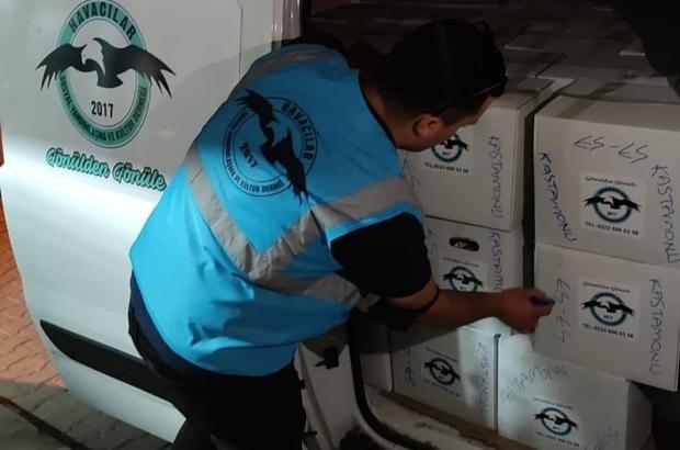 Eskişehir'den Kastamonu'ya yardım eli Havacılar sel mağdurlarına erzak yardımı gönderdi