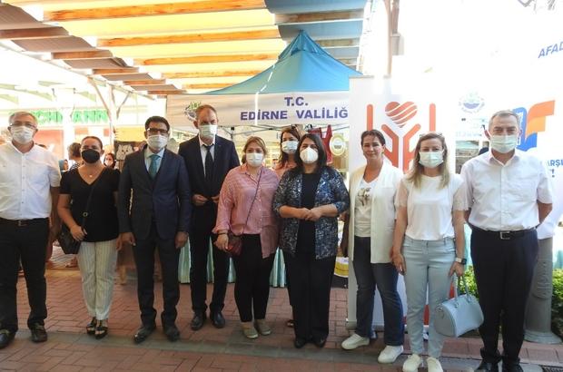 El emeği göz nuru ürünler afetzedelere destek için görücüye çıktı Edirneli kadınlar afetzedeler için tek yürek oldu