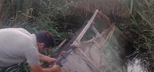 Yasa dışı avcılıkta kullanılan ördek kafesleri imha edildi