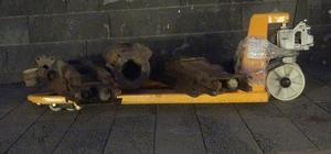 Tunceli'de Birinci Dünya Savaşından kalma top parçaları bulundu Birinci Dünya Savaşından kalma top parçaları, askeri helikopterle Kent Müzesine taşındı