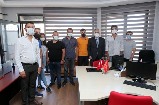 Vali Erol Ayyıldız basın kuruluşlarını ziyaret etti