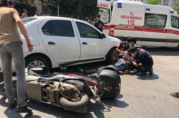 Eskişehir'de otomobil ile motosiklet çarpıştı: 1 yaralı