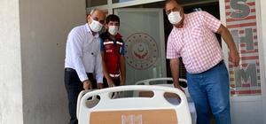 Bingöl'de özel gereksinimli hastaya ortopedik hasta yatağı desteği