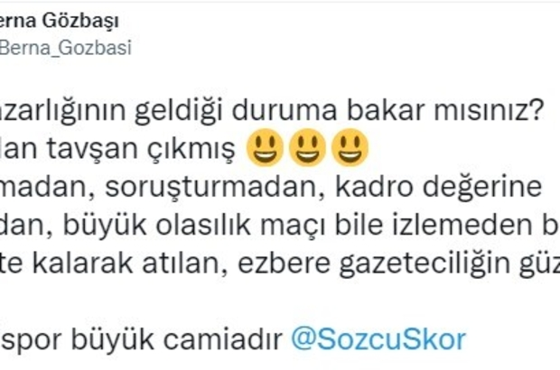 """Kayserispor Başkanı'ndan tepki Yukatel Kayserispor Başkanı Berna Gözbaşı: """"Kayserispor büyük camiadır"""""""