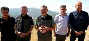 """Tunceli Valisi Mehmet Ali Özkan: """"4 noktada devam eden yangının 3 noktası tamamen söndürüldü"""""""