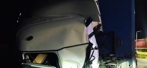 Alkollü sürücü tıra arkadan çarptı: 1 yaralı