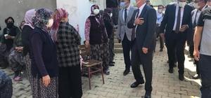 Vali Seymenoğlu'ndan traktör kazasında hayatını kaybeden şehit babasının ailesine taziye ziyareti