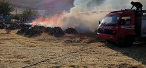 Odun ambarında çıkan yangın söndürüldü