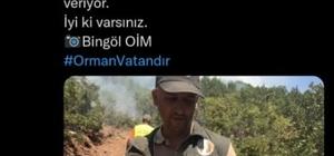 """""""Ormancılık her şeyden önce vicdan işidir"""" Orman Genel Müdürlüğü, yangından etkilenen kuşun personel tarafından kurtarıldığı anı paylaştı"""