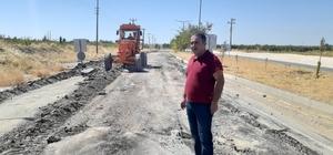 Samsat'ın girişine beton asfalt yapılıyor