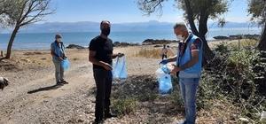Balıkçılar Eğirdir Gölü çevresinde temizlik yaptı