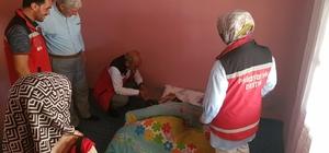 Solhan Sosyal Hizmetler Müdürlüğü ekipleri, 102 yaşındaki Zeynep Ardaç ile bir araya geldi