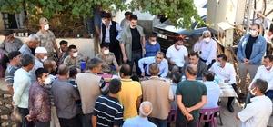 Vali Mahmut Çuhadar, depremden etkilenen Gerger Gölyurt'ta