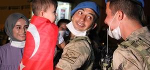 Afrin'den dönen kahraman JÖH'çüler vatanlarına ve sevdiklerine kavuşmanın mutluluğunu yaşadı