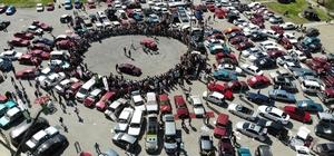 (Özel) Drift tutkunları Erzincan'da nefes kesti Erzincan'da modifiye araçlarla drift gösterisi renkli görüntülere sahne oldu