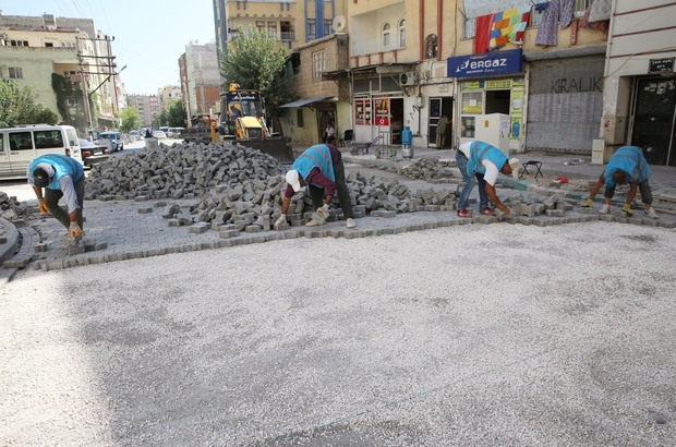 Haliliye Belediyesinden iki mahallede parke çalışması