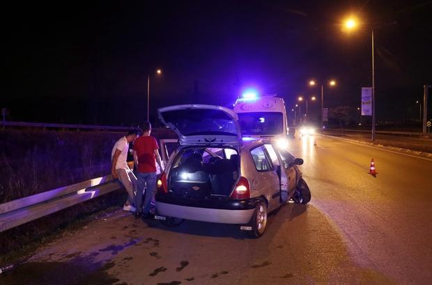 Kaza yapan alkollü sürücü hıncını gazetecilerden çıkarmak istedi Alkollü şekilde direksiyon başına geçince kaza kaçınılmaz oldu Hastaneye gitmeyi reddeden alkollü sürücü cezadan kaçamadı