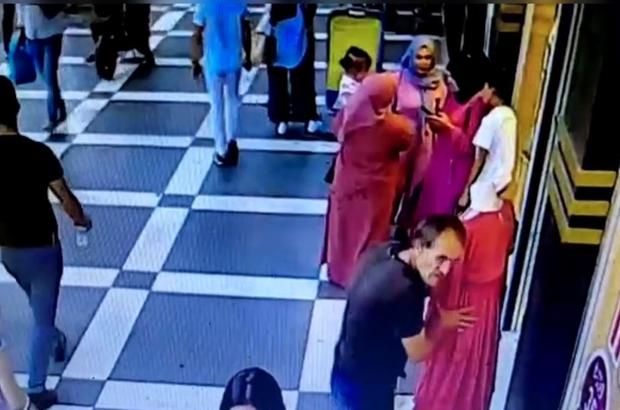 Şanlıurfa'da pes dedirten hırsızlık Cansız mankenin çalınma anı kamerada
