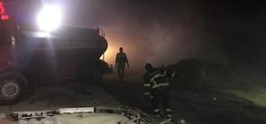 Edirne'de 600 saman balyası yandı