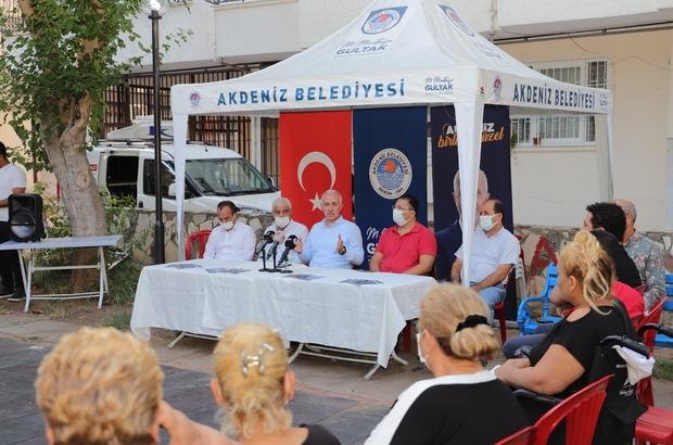 """Gültak: """"Akdeniz'de radikal çözüm, kentsel dönüşüm"""" Akdeniz Belediye Başkanı Mustafa Gültak, Hamidiye Mahallesi'nde vatandaşlarla bir araya geldi"""