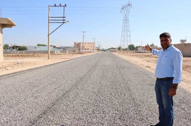Suruç'un Dinlence Mahallesi yolu sathi asfaltla buluştu