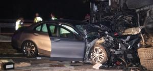 Ahşap malzeme yüklü tır devrildi: 6 yaralı Edirne'de zincirleme trafik kazasında 6 kişi yaralandı