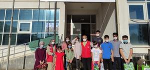 Solhan'da öğrencilere kırtasiye malzemesi desteği