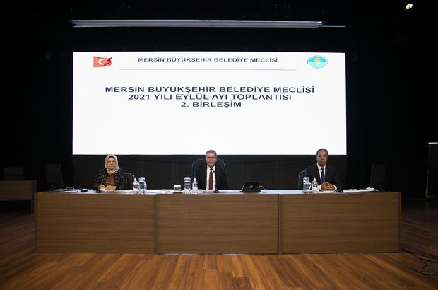 """Seçer: """"Borçlanma konusunda ket vurmayın"""" Mersin Büyükşehir Belediye Meclisinin 2021 Yılı Eylül Ayı Olağan Toplantısının 2. Birleşimi, Belediye Başkanı Vahap Seçer başkanlığında yapıldı"""