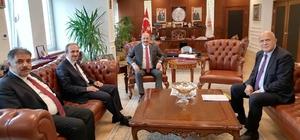Vali Epcim ve Başkan Pekmezci Bakan Bilgin ile bir araya geldi
