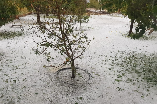 Mersin'de şiddetli yağmur ve dolu etkili oldu