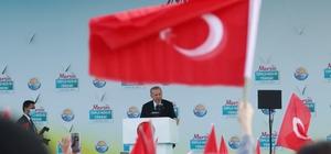 """Cumhurbaşkanı Erdoğan: """"Amacımız ülkemizi ikinci üçüncü santrallere kavuşturmak"""" Cumhurbaşkanı Erdoğan, Mersin'de Cumhuriyet Meydanı'nda düzenlenen toplu açılış törenine katıldı Cumhurbaşkanı Recep Tayyip Erdoğan: """"Akkuyu Nükleer Santrali'nin birinci ünitesini 2023'ün Mayısına yetiştireceğiz"""" """"Türkiye'ye diz çöktürmek için yıllardır çırpınanların heveslerini kursaklarında bırakarak 2023 hedeflerimize yürüyoruz"""" """"Önce Irak, ardından Suriye, Libya, Karabağ ve şimdi de Afganistan'da yaşanan trajediler karşısında bizim kadar fedakarlık yapan, kararlı duruş sergileyen hiçbir ülke yoktur"""" """"Cumhur ittifakı olarak nasıl Türkiye'yi darbecilerden temizlediysek, terör örgütlerinin kuşatmasından çıkardıysak, küresel sistemde söz sahibi yaptıysak, inşallah bundan sonra çok daha fazlasını milletimize kazandıracağız"""""""
