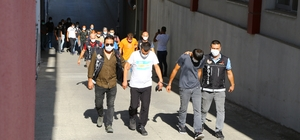 Torbacı operasyonunda gözaltına alınan 37 zanlı adliyeye sevk edildi