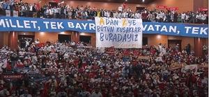 Ercik'ten Mersinlilere teşekkür AK Parti Mersin İl Başkanı Cesim Ercik, ilk günkü heyecan ve coşkuyla Cumhurbaşkanı Recep Tayyip Erdoğan'ı karşılayarak büyük bir katılımla programını takip eden Mersinlilere teşekkür etti
