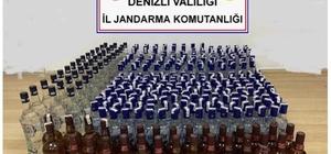 Jandarma bir evde 338 şişe alkol ele geçirdi