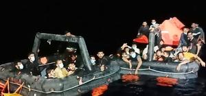 Marmaris ve Datça'da 132 göçmen kurtarıldı Marmaris ve Datça açıklarında Yunan Sahil Güvenlik unsurları tarafından Türk karasularına geri itilen toplam 132 düzensiz göçmen kurtarıldı.