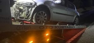 Elazığ'da araç domuz sürüsüne çarptı: 2 yaralı