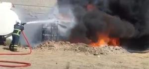 Batman'da asfalt yakıt tankeri yandı