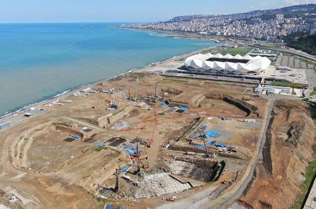 Deniz dolgusuna inşa edilecek Trabzon Şehir Hastanesi için 400 fore kazık çakılacak