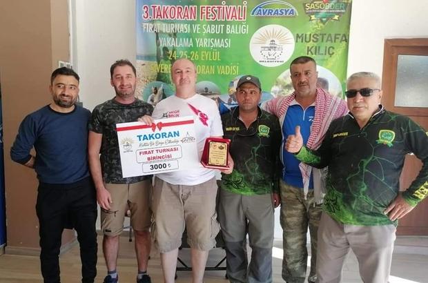 En büyük balığı yakalan 3 bin TL'yi kaptı Geleneksel Takoran Festivali sona erdi