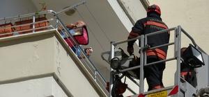 Trabzon'da yangın paniği Kalorifer dairesinde çıkan yangın paniğe yol açtı