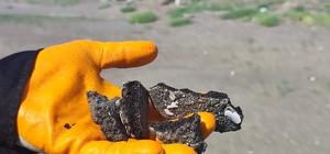 Petrol atıkları kumsalda yoğunluk oluşturdu Suriye kaynaklı petrol sızıntısının temizlik çalışmaları sürüyor