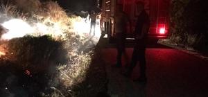 Yayladağı'nda otluk alanda çıkan yangın kontrol altına alındı