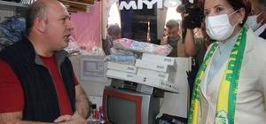 Meral Akşener esnafın nabzını tuttu