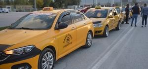 Niksar'da taksicilerden 'Korsan' protestosu