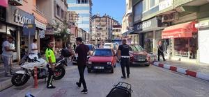Samandağ'da motosiklet denetimi