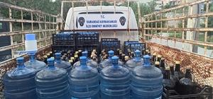 Samandağ'da 567 litre sahte içki ele geçirildi