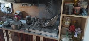 Kopan elektrik telleri yangın çıkardı