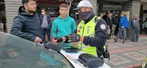 Kasksız sürücülere ceza yağdı