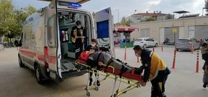 Geri manevra yapan aracın çarptığı yaşlı adam yaralandı