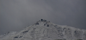 Pirreşit Dağı'na kar yağdı